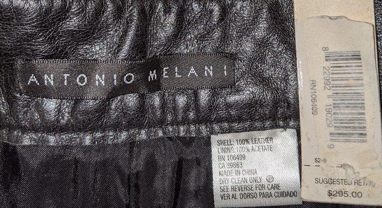 Antonio Melani Leather pants – Size 10