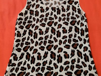 August Silk Sleeveless Blouse Size S
