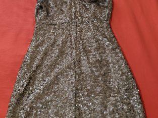 Badgley Mischka Gold Sequin Dress Size: 2