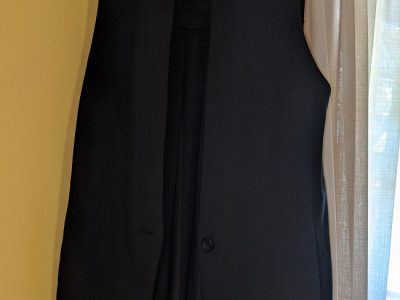 Black Banana Republic Sheer Back Vest: Size 10