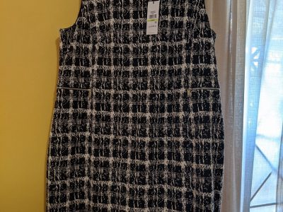 Calvin Klein Houndstooth Shift Dress Size 18W