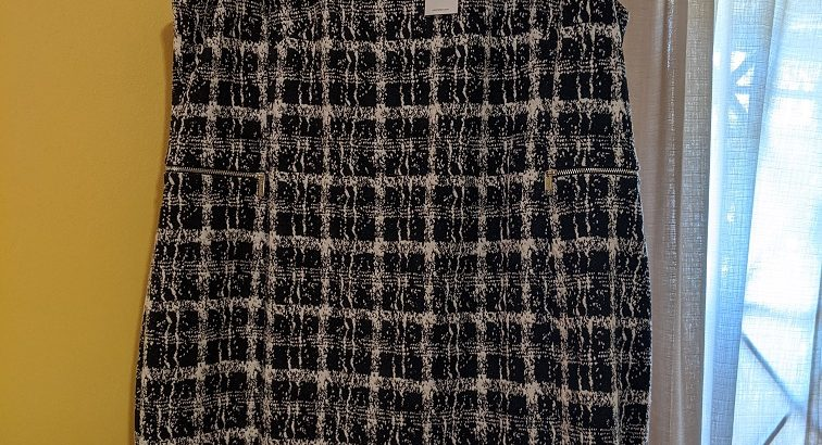 Calvin Klein Houndstooth Shift Dress Size 18W