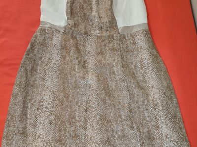Calvin Klein Tan and White Dress Size: 6