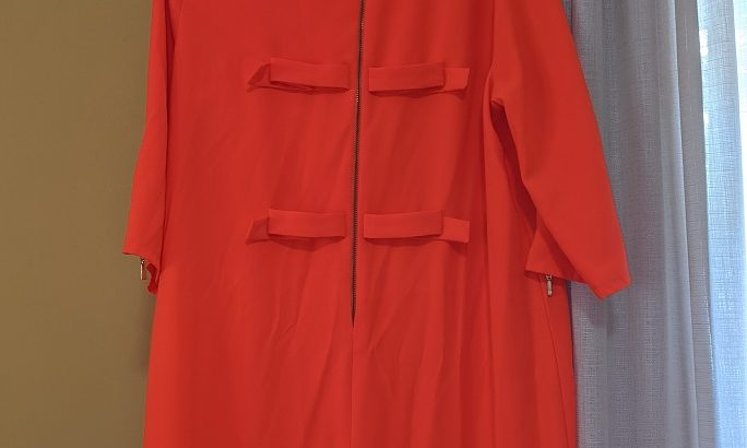 Gianni Bini Relaxed Fit Red-Orange Dress: Size L