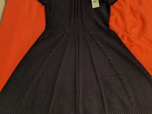 J. Howard Black Knit Dress Sz: Medium