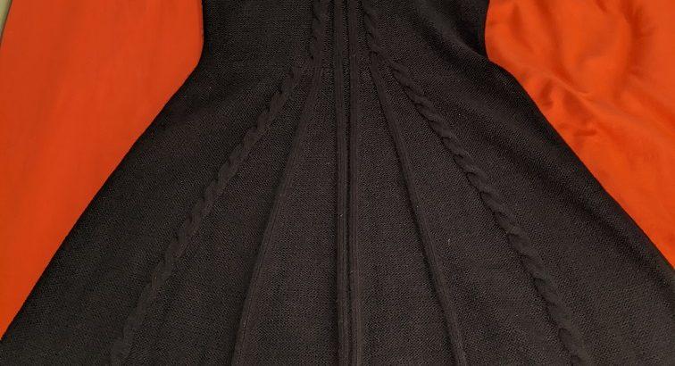 J. Howard Black Knit Dress Sz: Medium