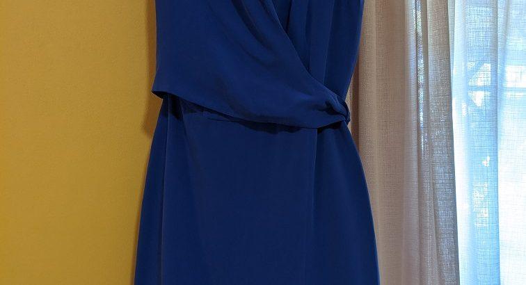 Jones New York Blue Silk Dress: Size 6