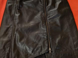 Leith Black Leather Pencil Skirt Sz.0