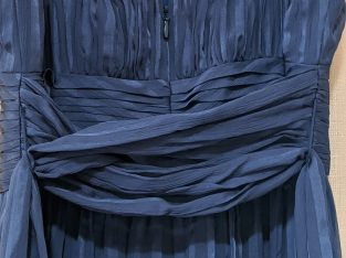 BCBG Maxazria Navy Blue Silk Dress SZ 8