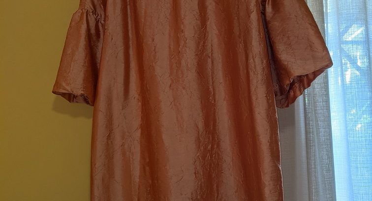 Talbots Bronze/Copper Relaxed Fit Dress; Size M